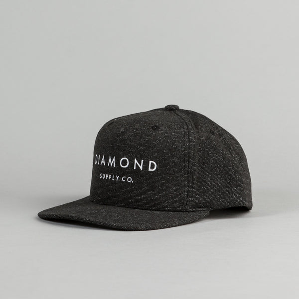 Diamond Snapback Cap - Speckle Black