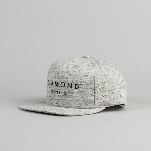 Diamond Snapback Cap - Speckle Grey