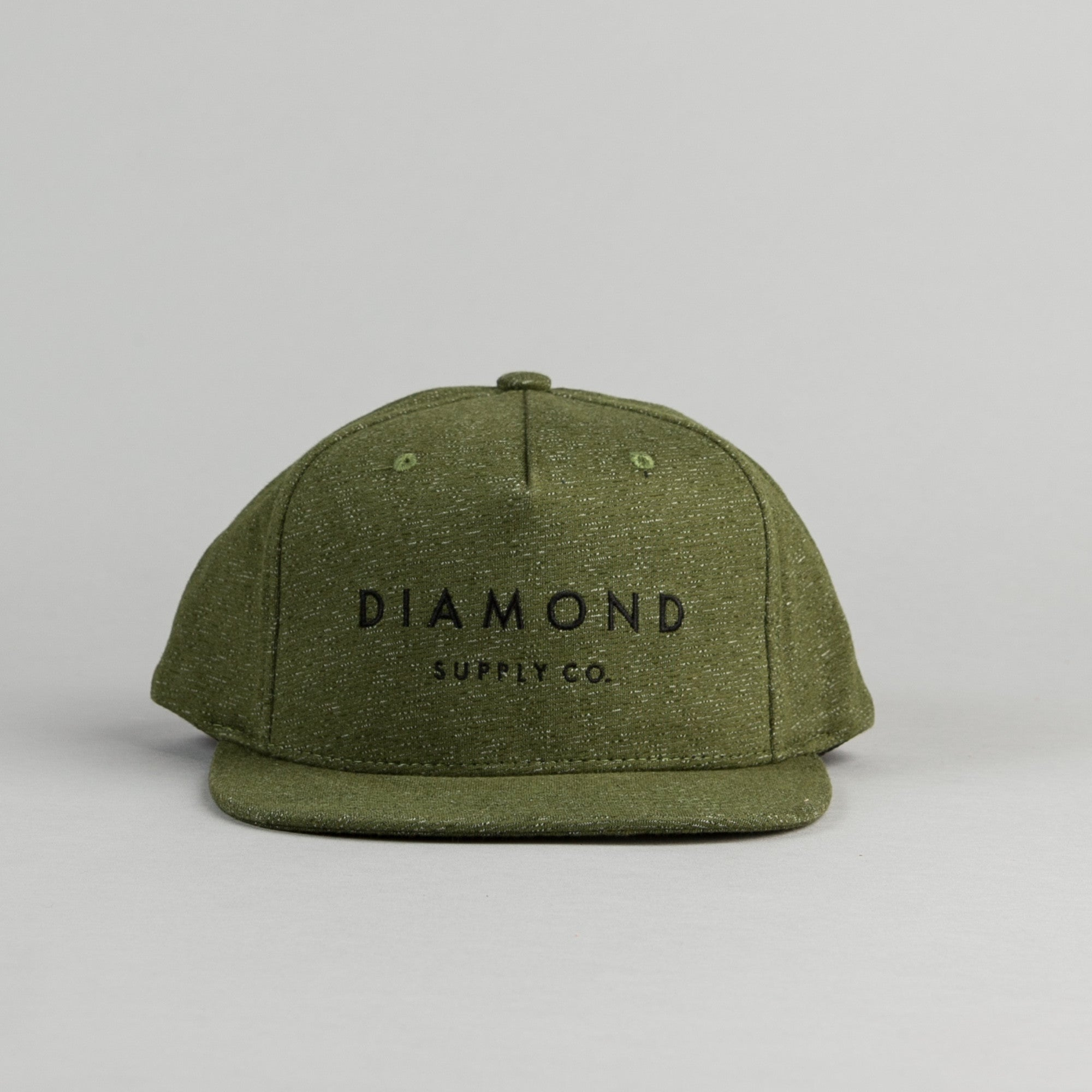 Diamond Snapback Cap - Speckle Olive