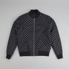 Diamond Snow Bomber Jacket Black