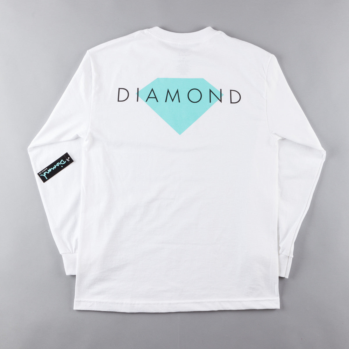 Diamond Solid Long Sleeve T-Shirt - White