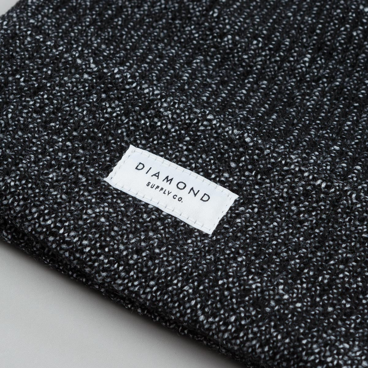 Diamond Stone Cut Beanie - Speckle Black