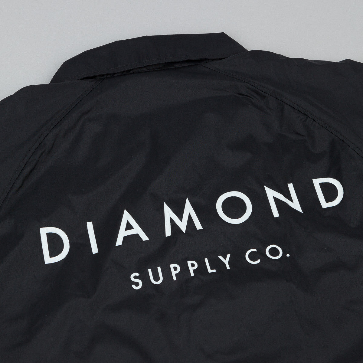 Diamond Stone Cut Coach's Jacket - Black
