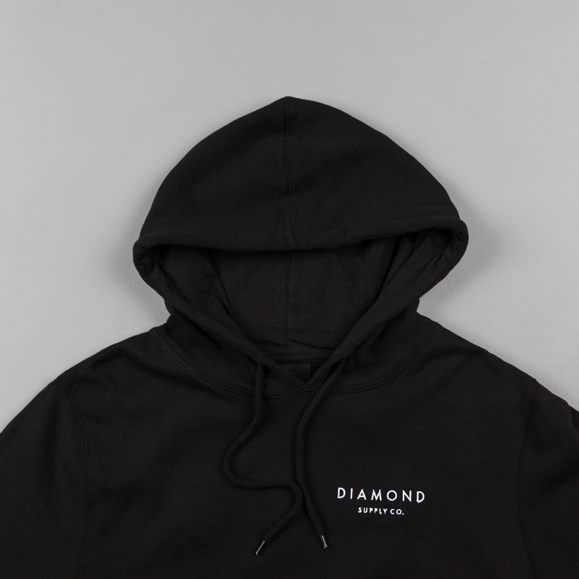 Diamond Stone Cut Hooded Sweatshirt - Black