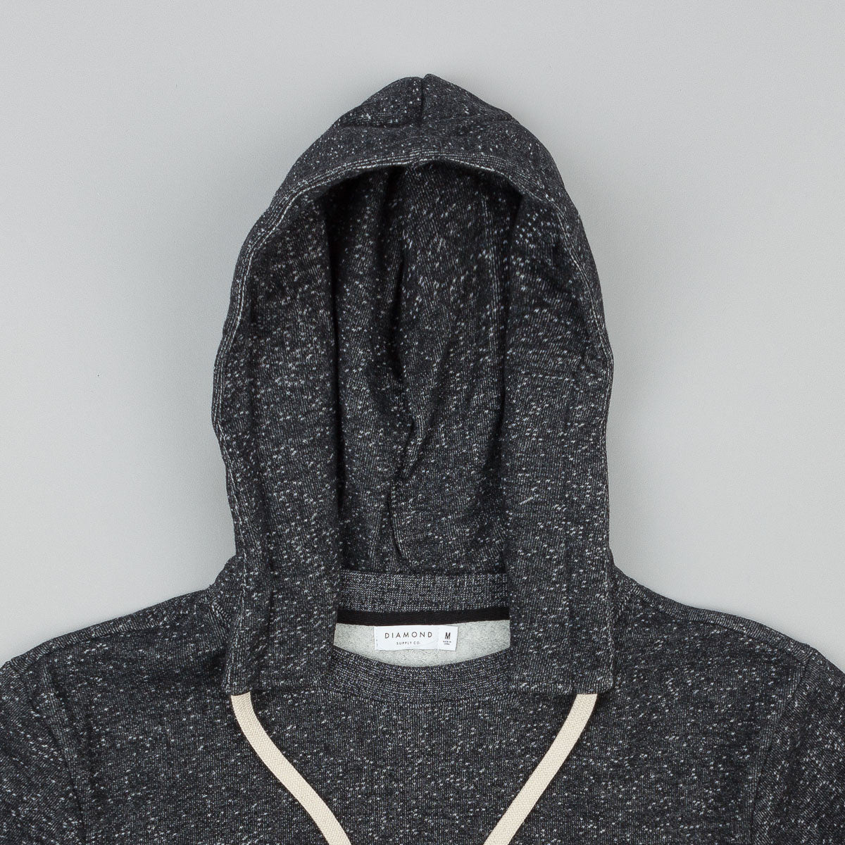 Diamond Stone Cut Hooded Sweatshirt - Pepper