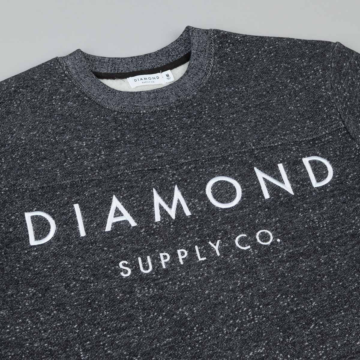 Diamond Stone Cut Long Sleeve Football Top - Pepper