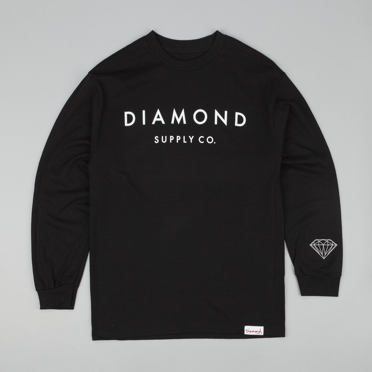 Diamond Stone Cut L/S T-Shirt - Black