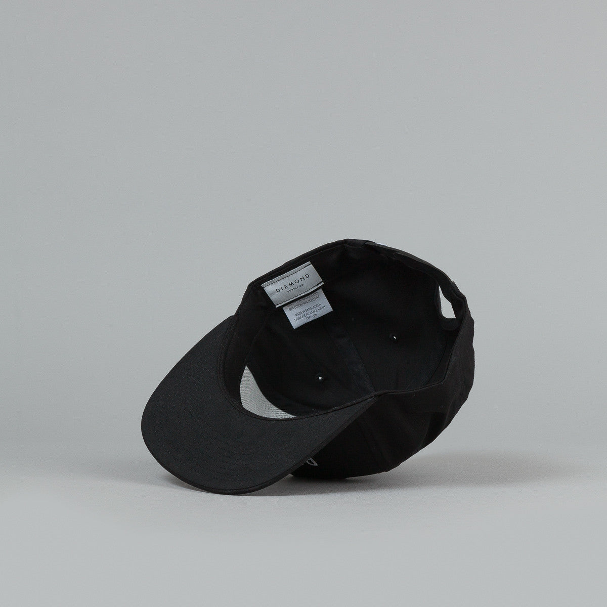 Diamond Stone Cut Snapback Cap - Black