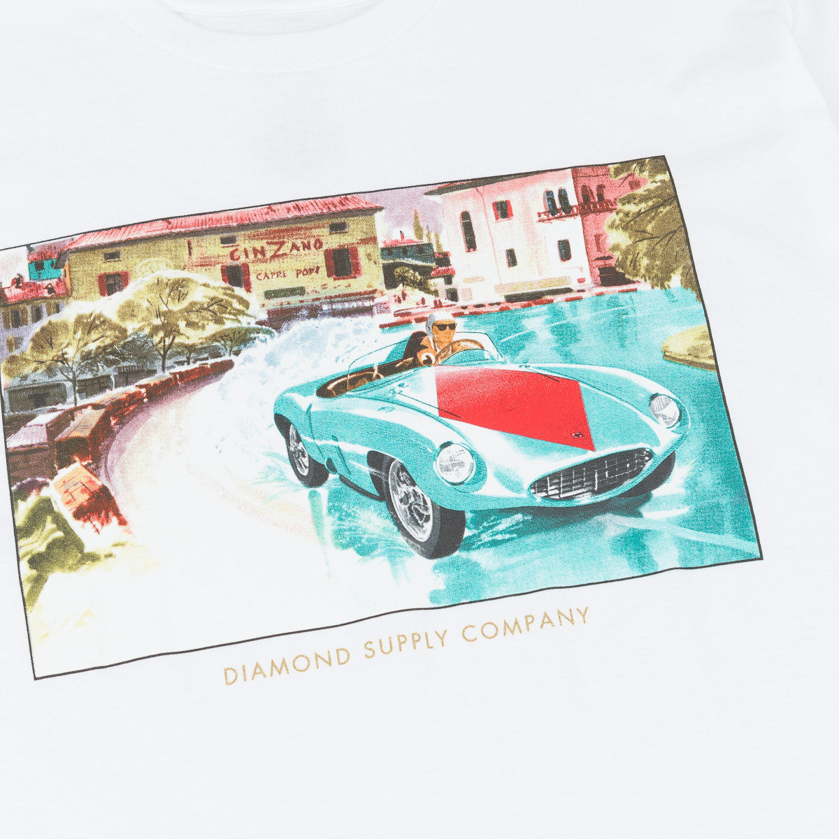 Diamond Street Race T-Shirt - White