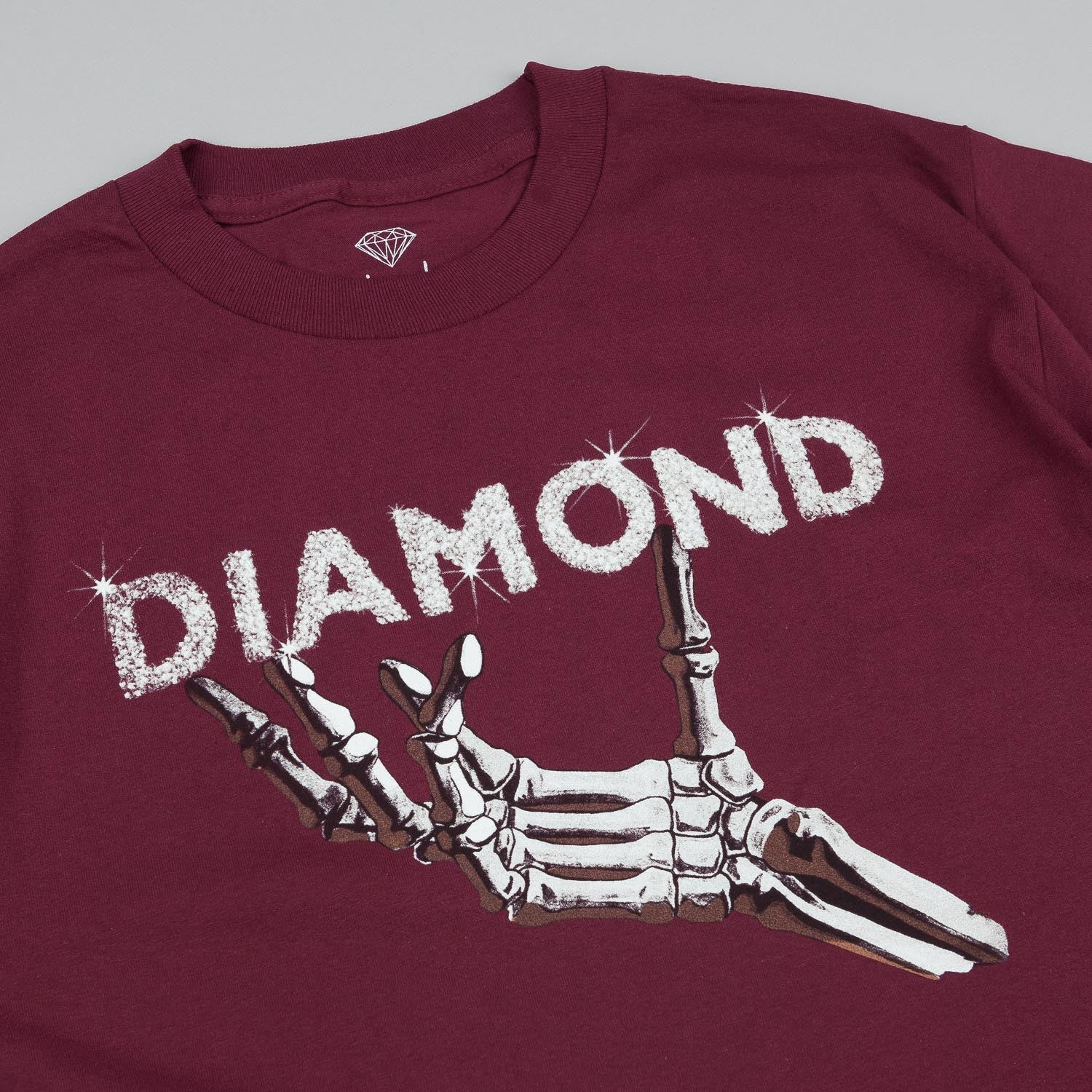 Diamond Styx and Stones T-Shirt Burgundy
