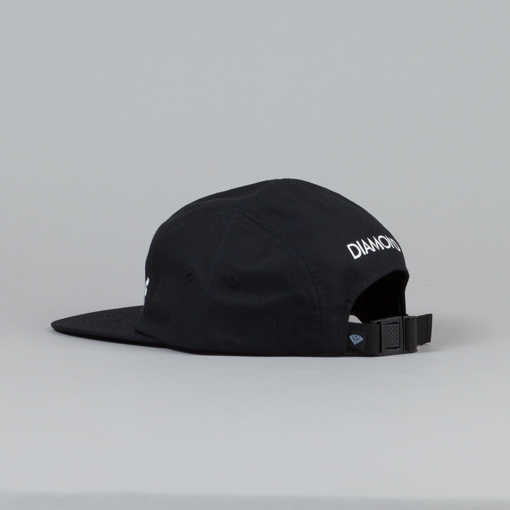 Diamond Supply 5 Panel Camp Cap Black