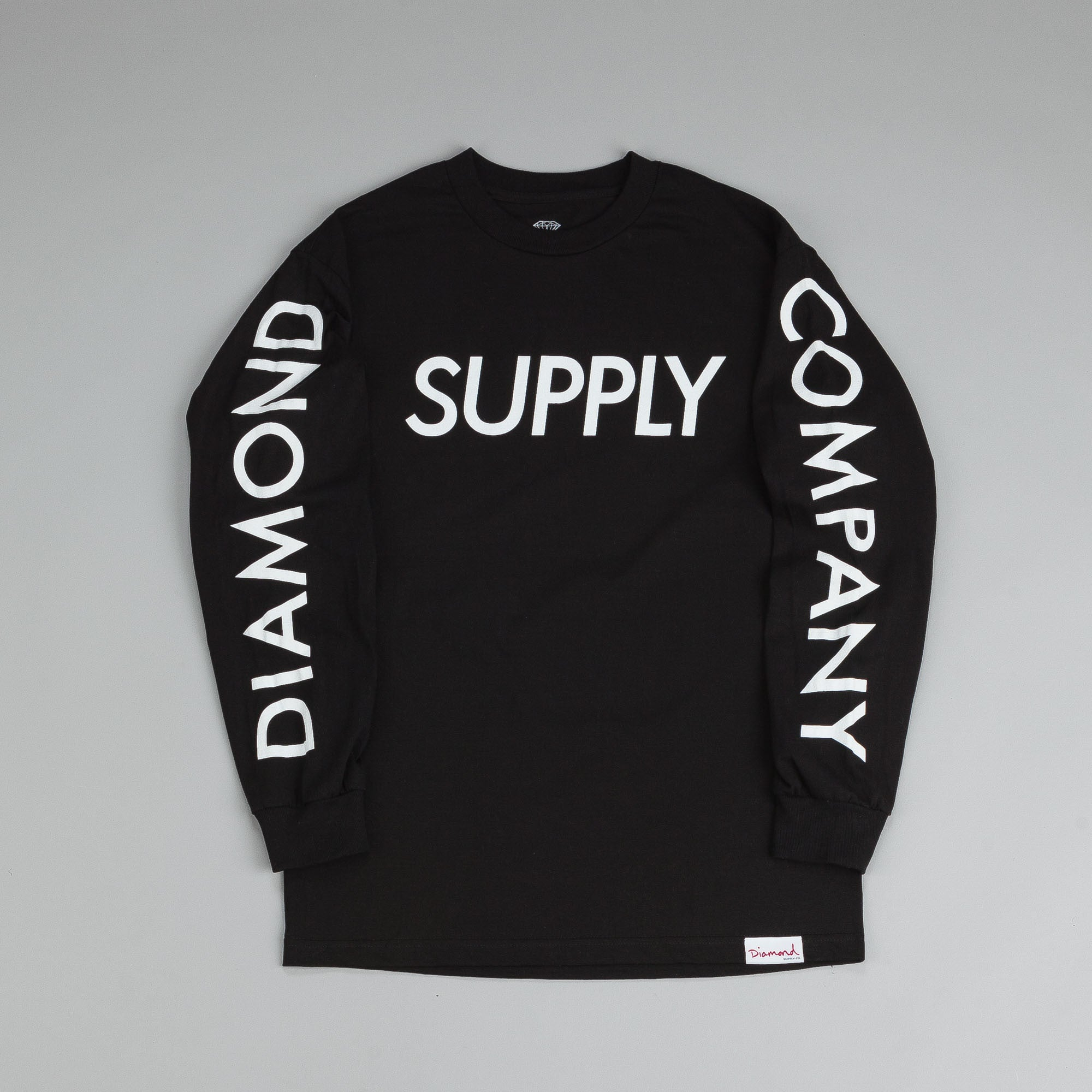 Diamond Supply Long Sleeve T Shirt Black