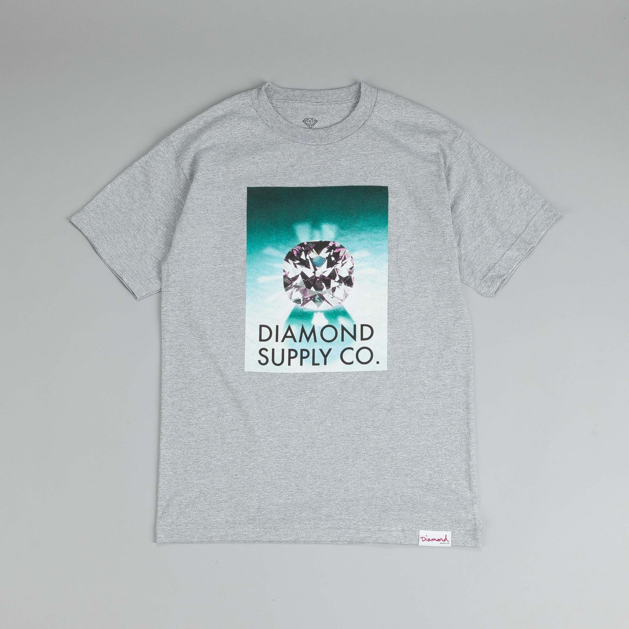 Diamond Supply T Shirt Heather Grey