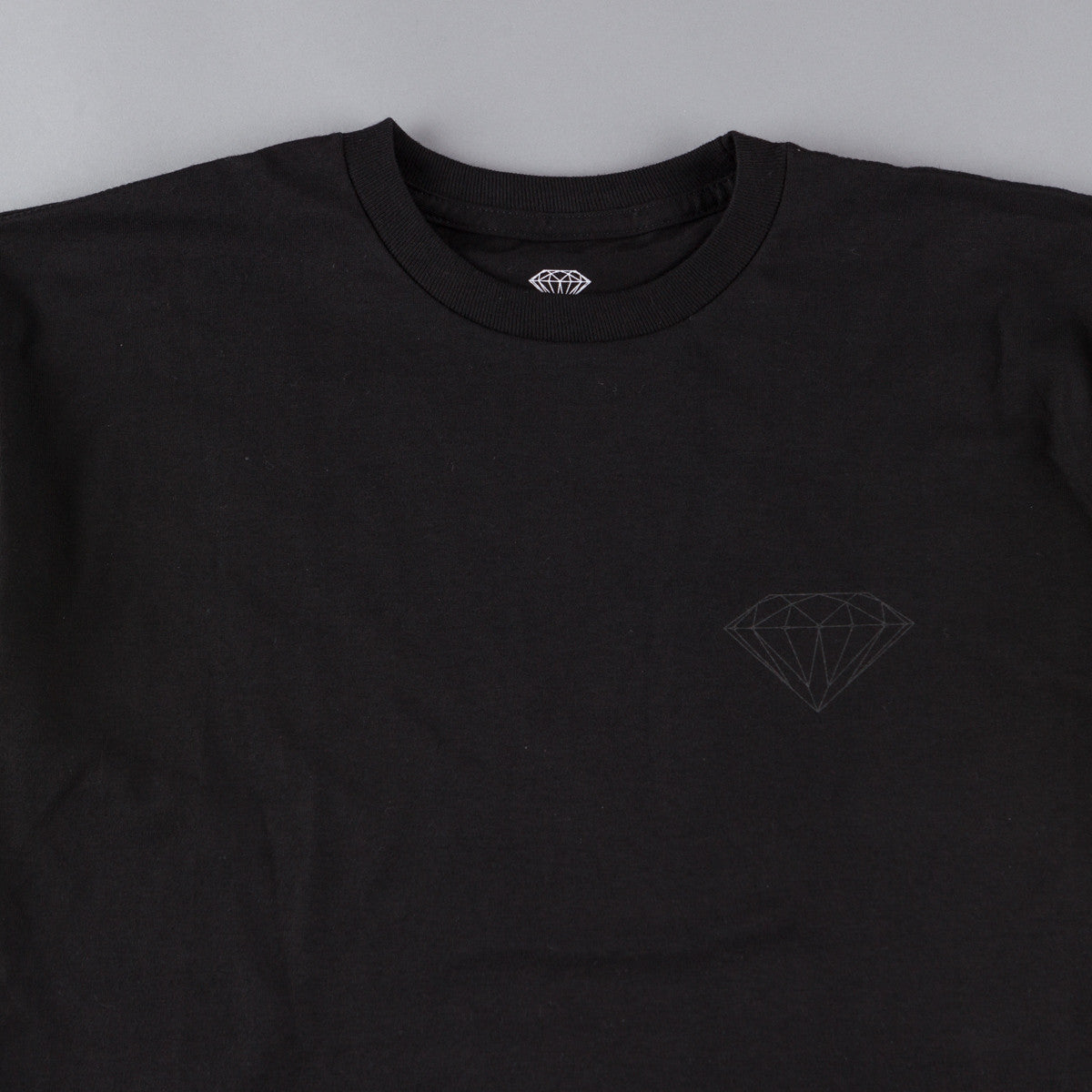 Diamond Tonal Chest Brilliant T-Shirt - Black