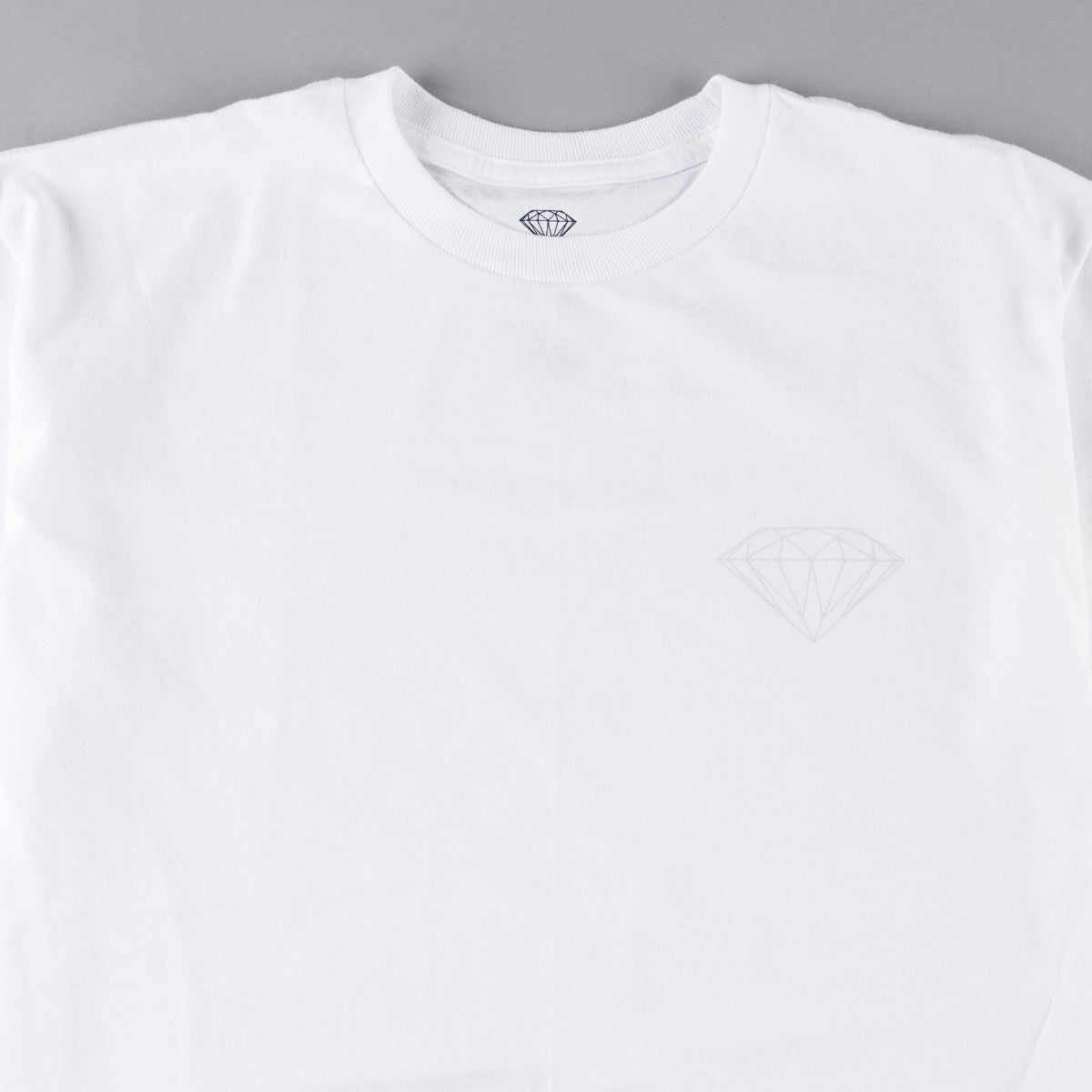 Diamond Tonal Chest Brilliant T-Shirt - White