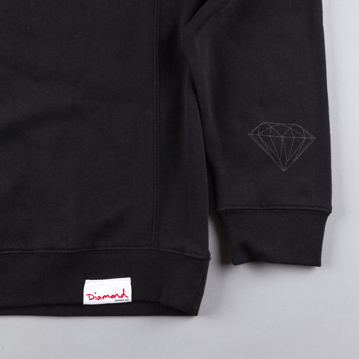 Diamond Tonal Crewneck Sweatshirt - Black