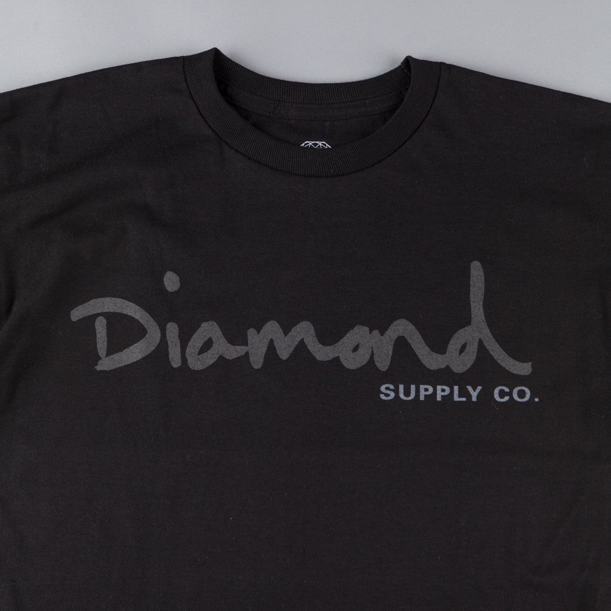 Diamond Tonal OG Script T-Shirt - Black