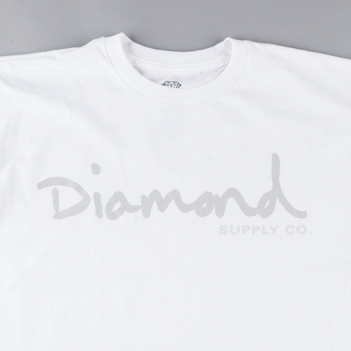 Diamond Tonal OG Script T-Shirt - White