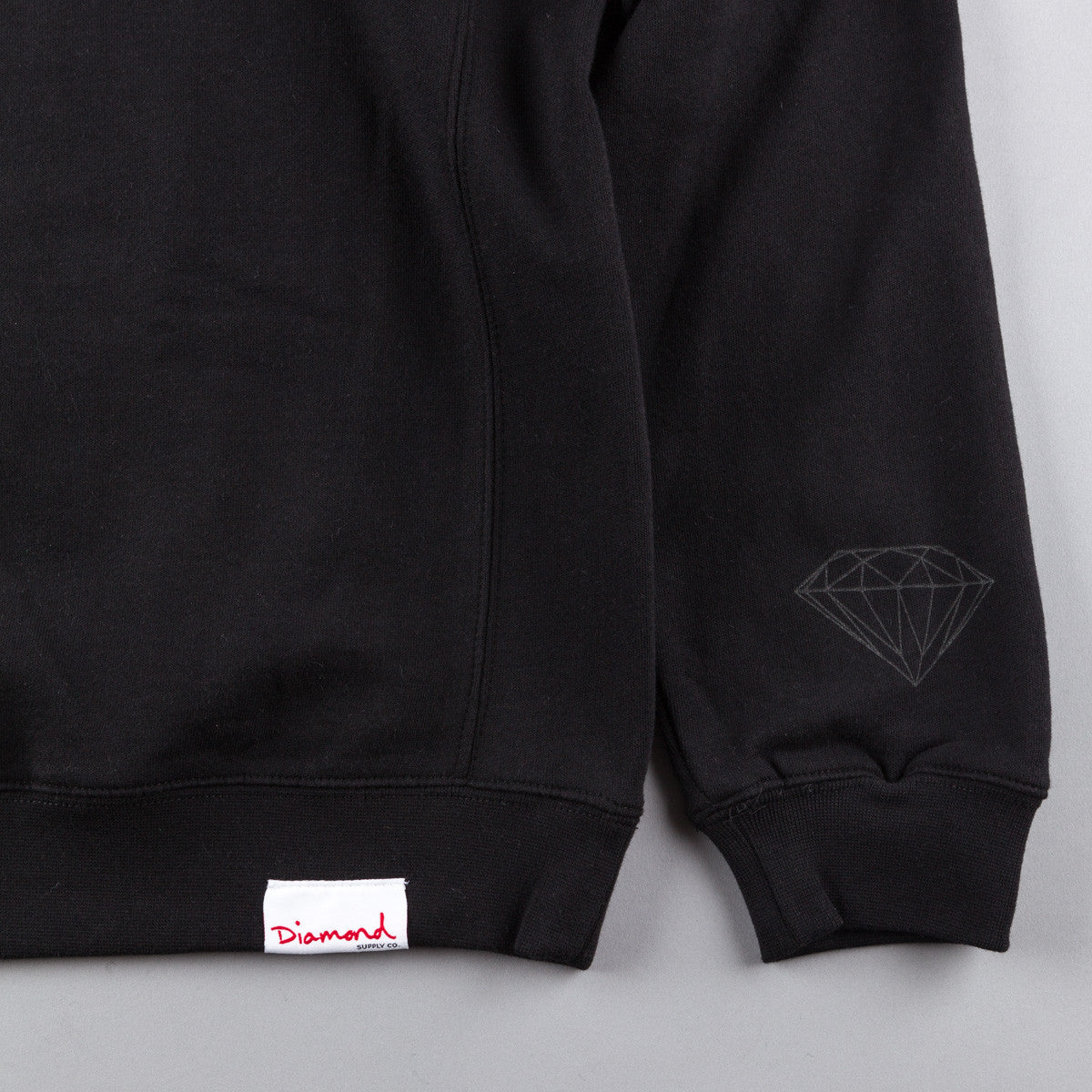 Diamond Tonal Un-Polo Crewneck Sweatshirt - Black