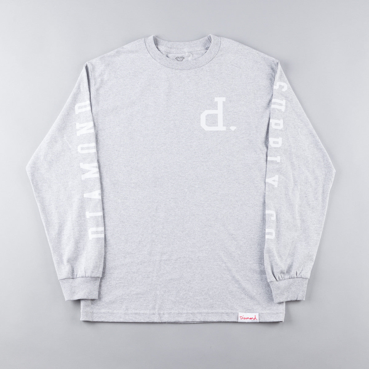 Diamond Tonal Un-Polo Long Sleeve T-Shirt