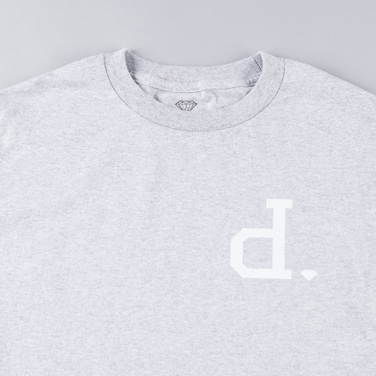 Diamond Tonal Un-Polo Long Sleeve T-Shirt - Heather Grey