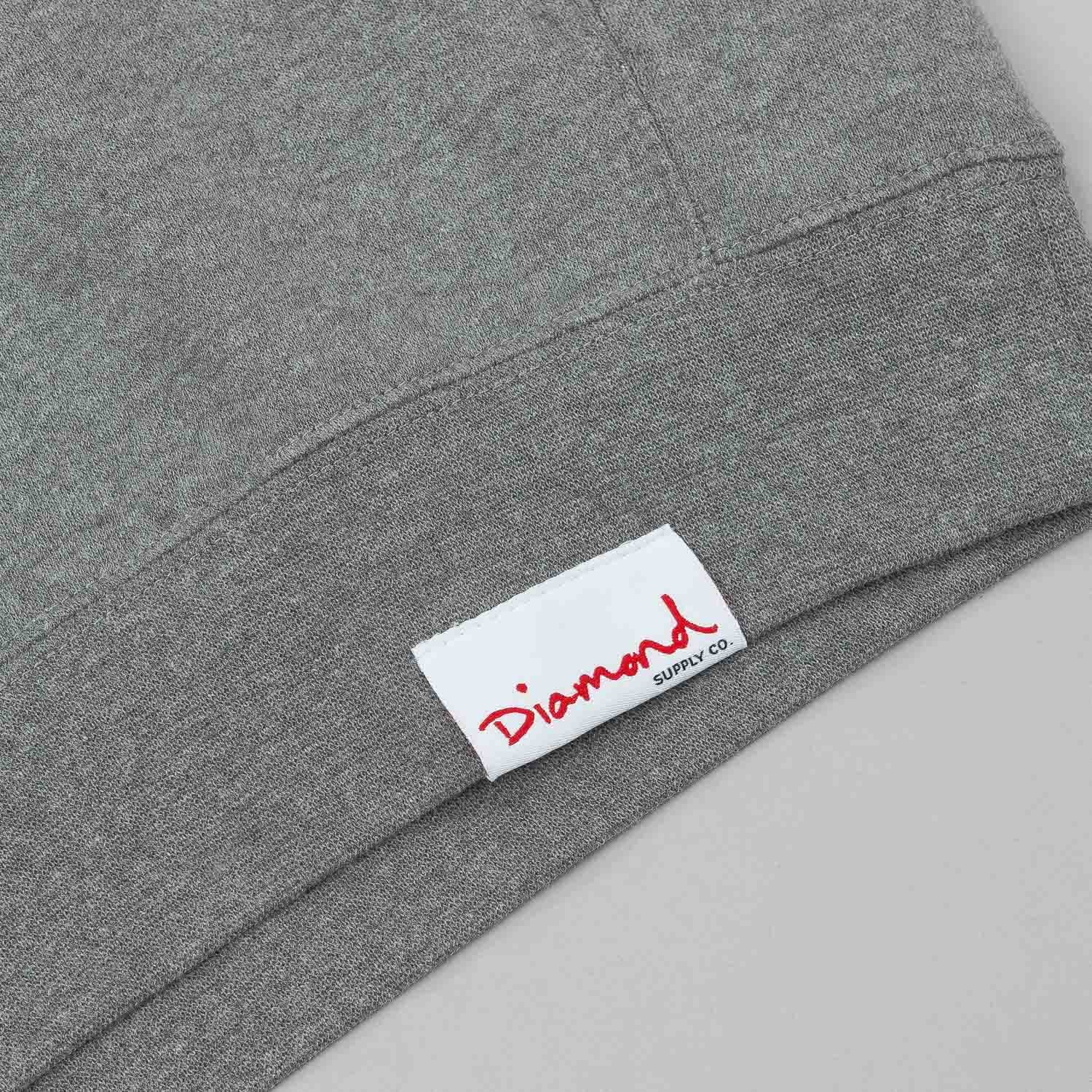 Diamond Trademark Crew Neck Sweatshirt - Heather Grey
