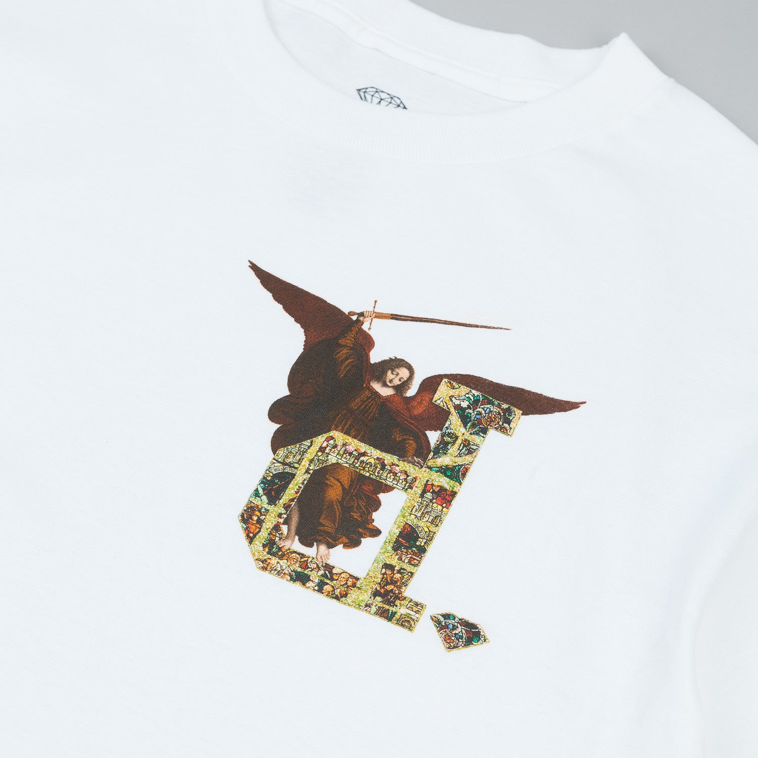 Diamond Un-Polo Angel T Shirt White