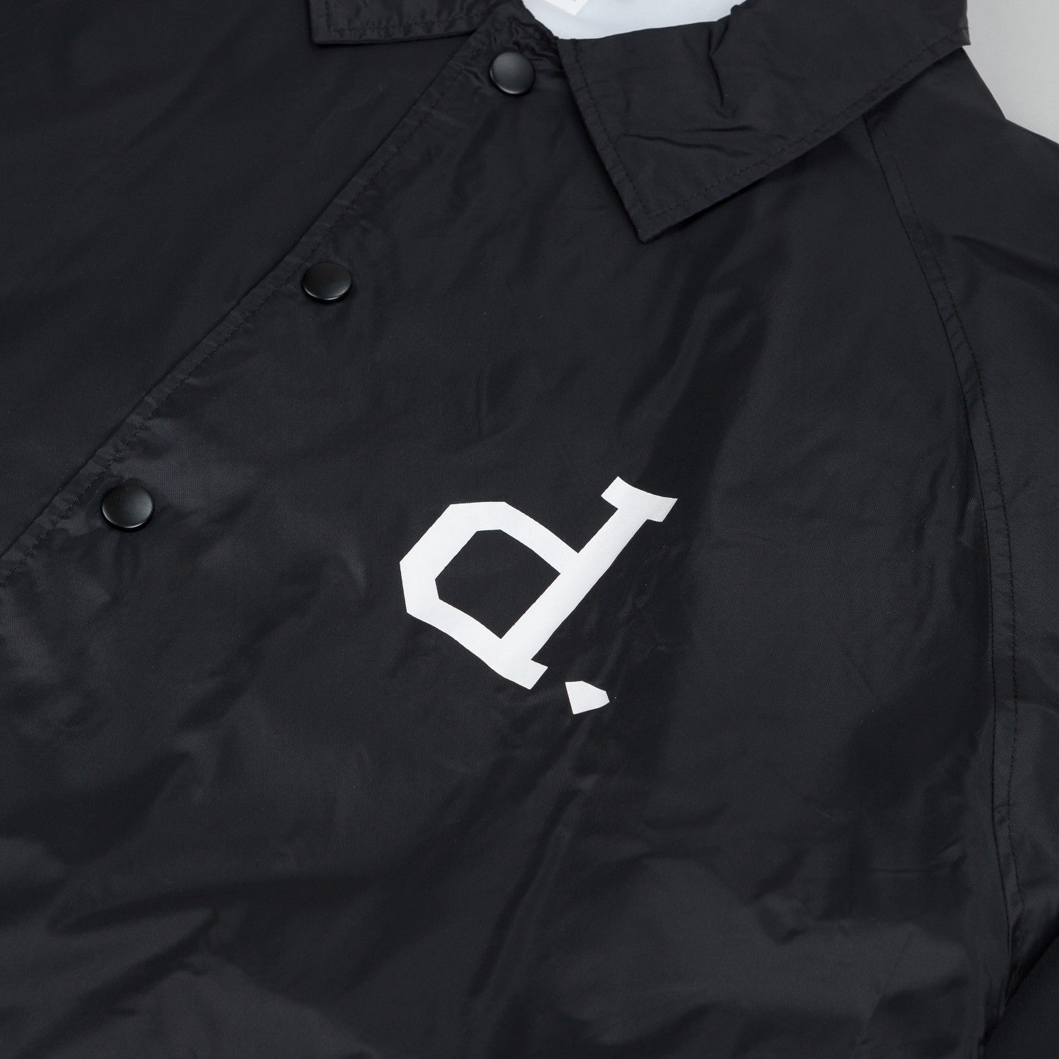 Diamond Un-Polo Coach Jacket - Black
