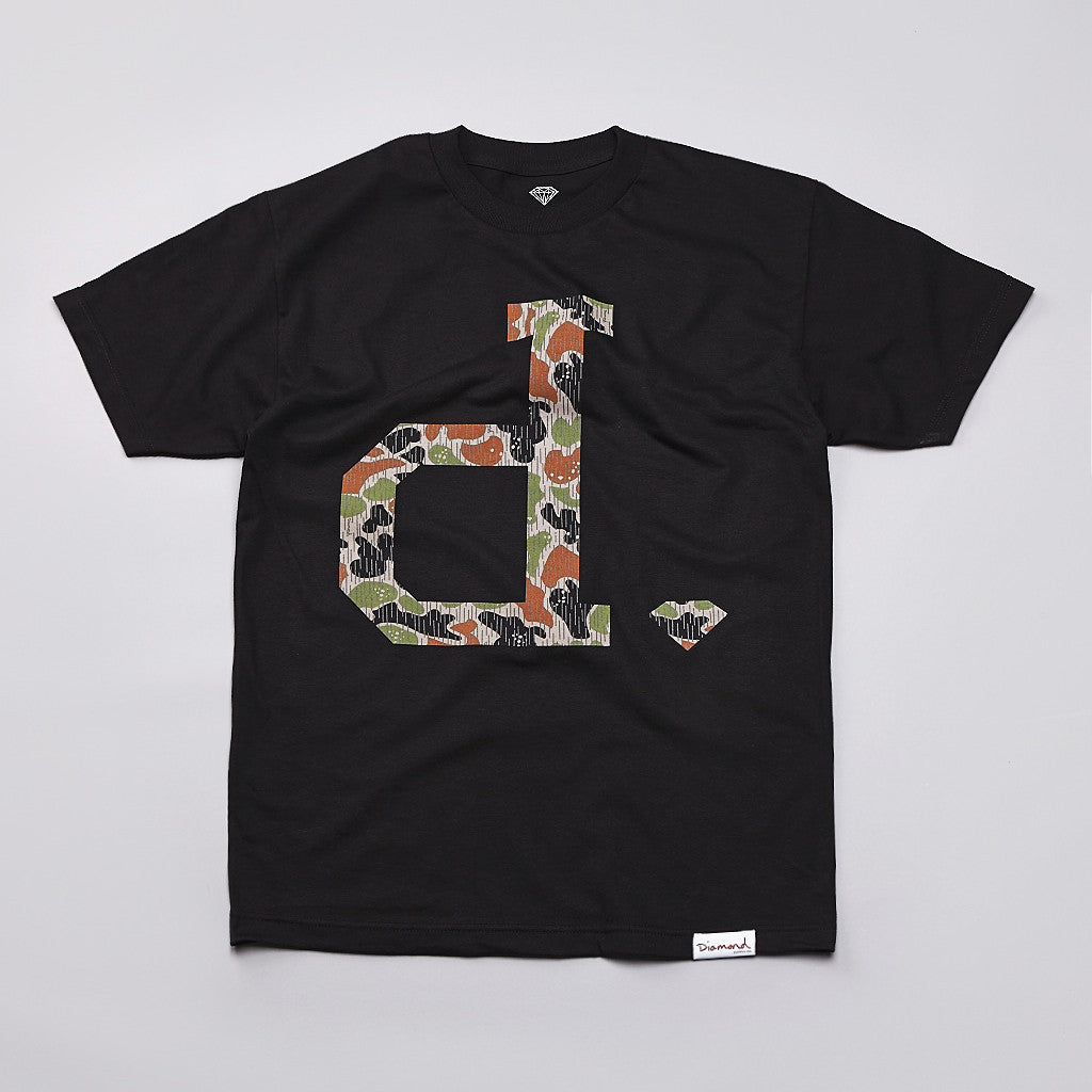 Diamond Unpolo Rain Camo T Shirt Black