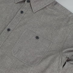 Diamond Union Woven Long Sleeve Shirt Heather Grey