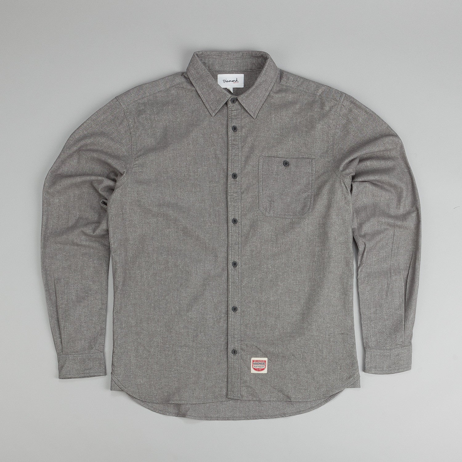 Diamond Union Woven L/S Shirt Heather Grey