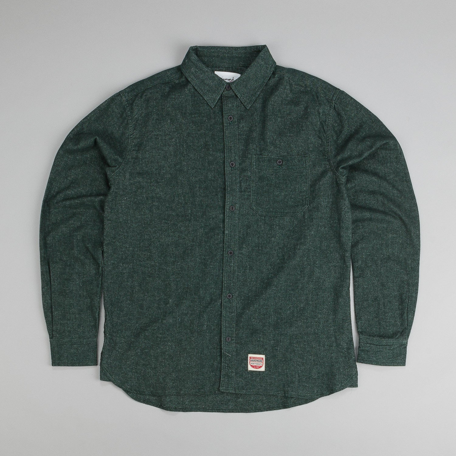 Diamond Union Woven L/S Shirt Green