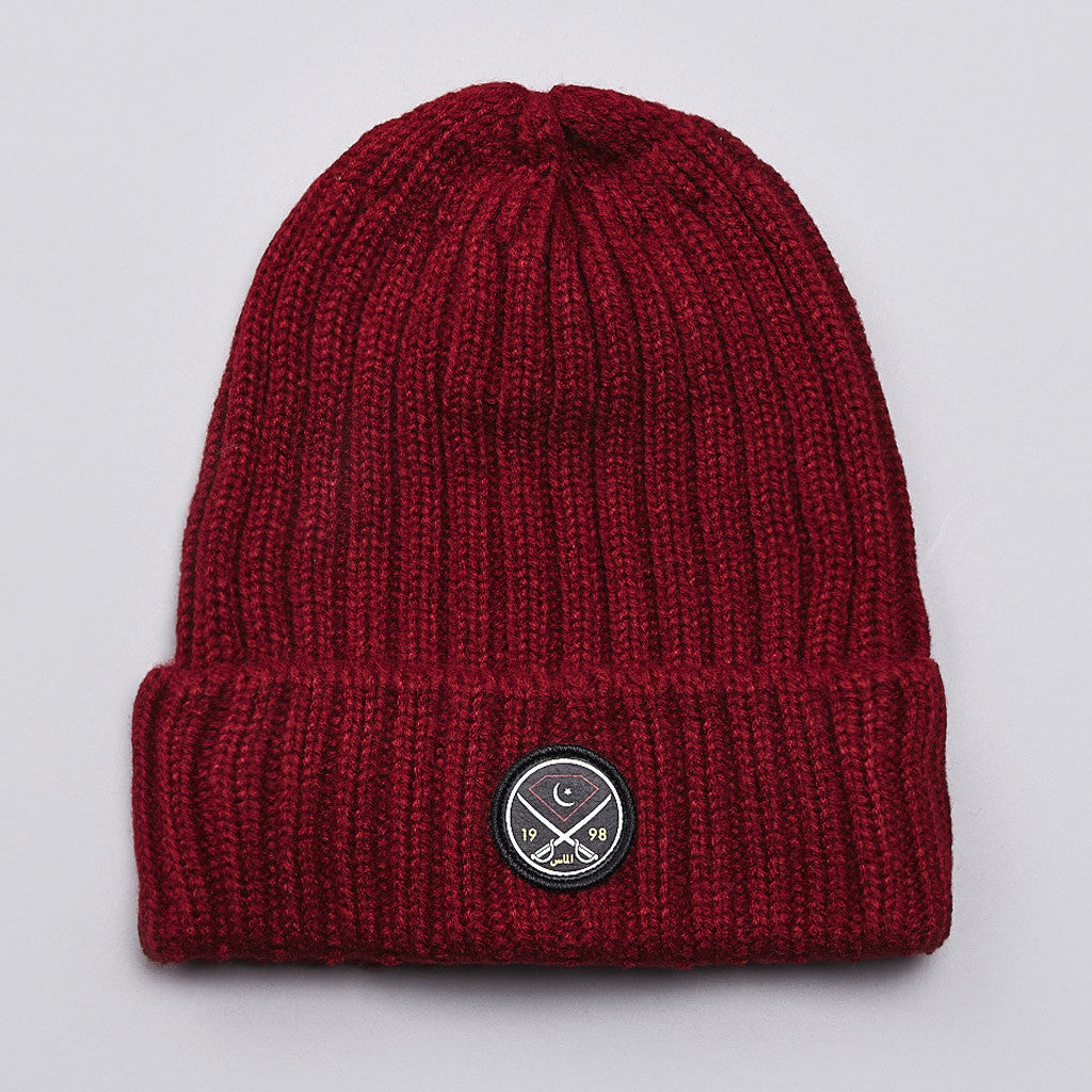 Diamond Victory Swords Beanie Burgundy
