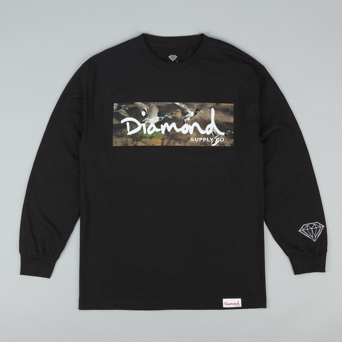 Diamond Woodland Long Shirt T-Shirt - Black