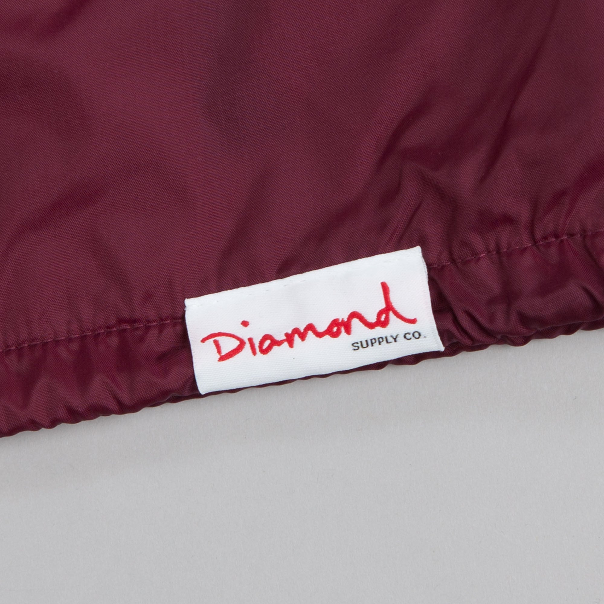 Diamond World Renowned Coach Jacket Burgundy