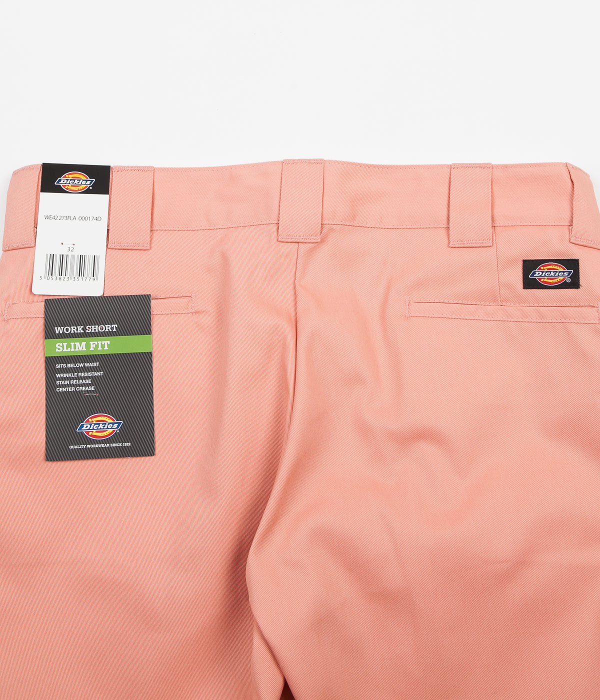 Dickies 273 Slim Straight Work Shorts - Flamingo