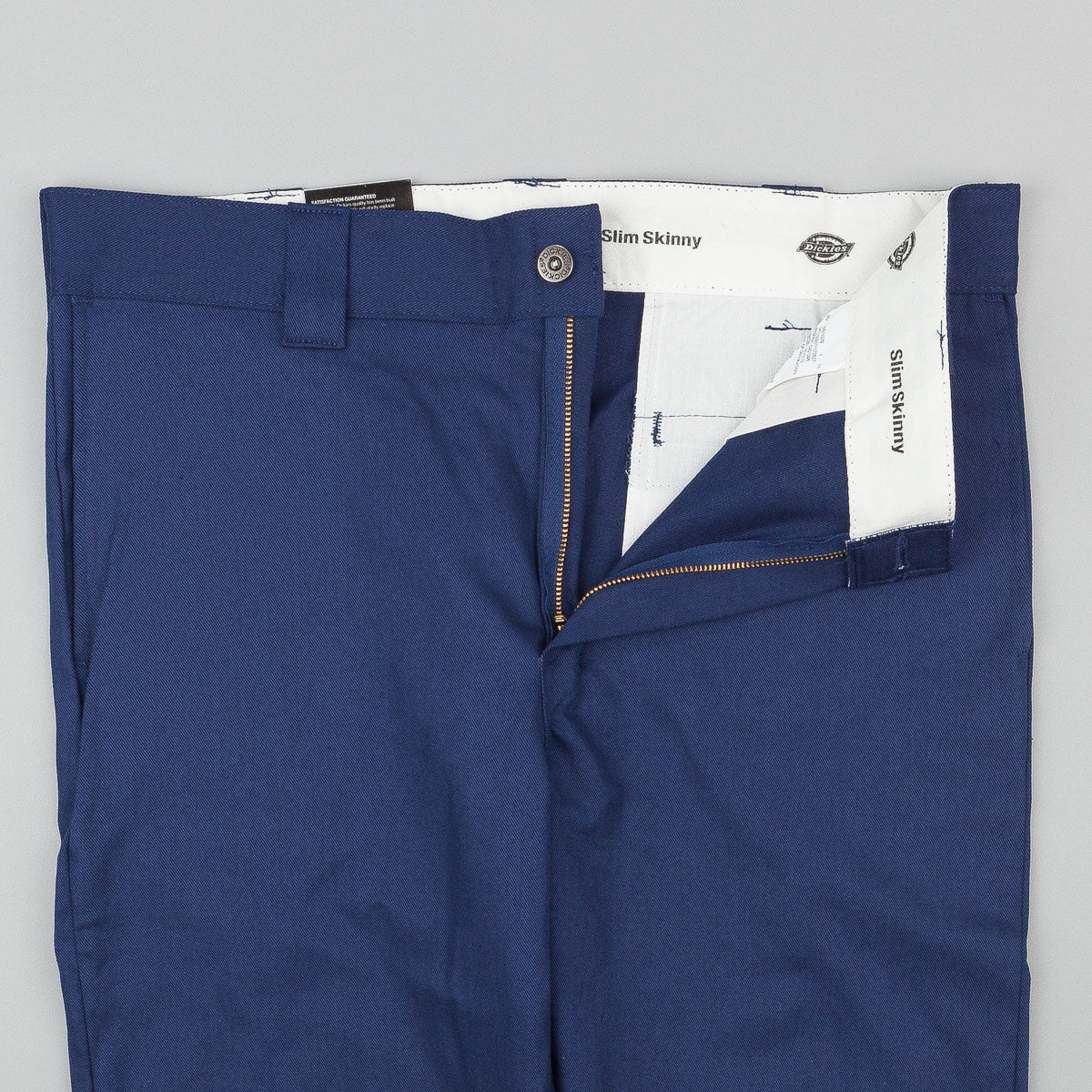 Dickies 803 Slim Skinny Work Trousers - Deep Blue