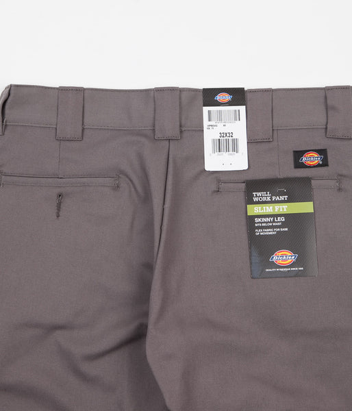Dickies 803 Slim Skinny Work Trousers - Gravel Grey