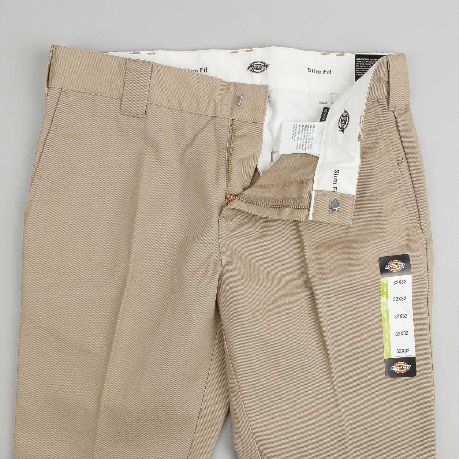 Dickies 872 Slim Work Trousers - Khaki
