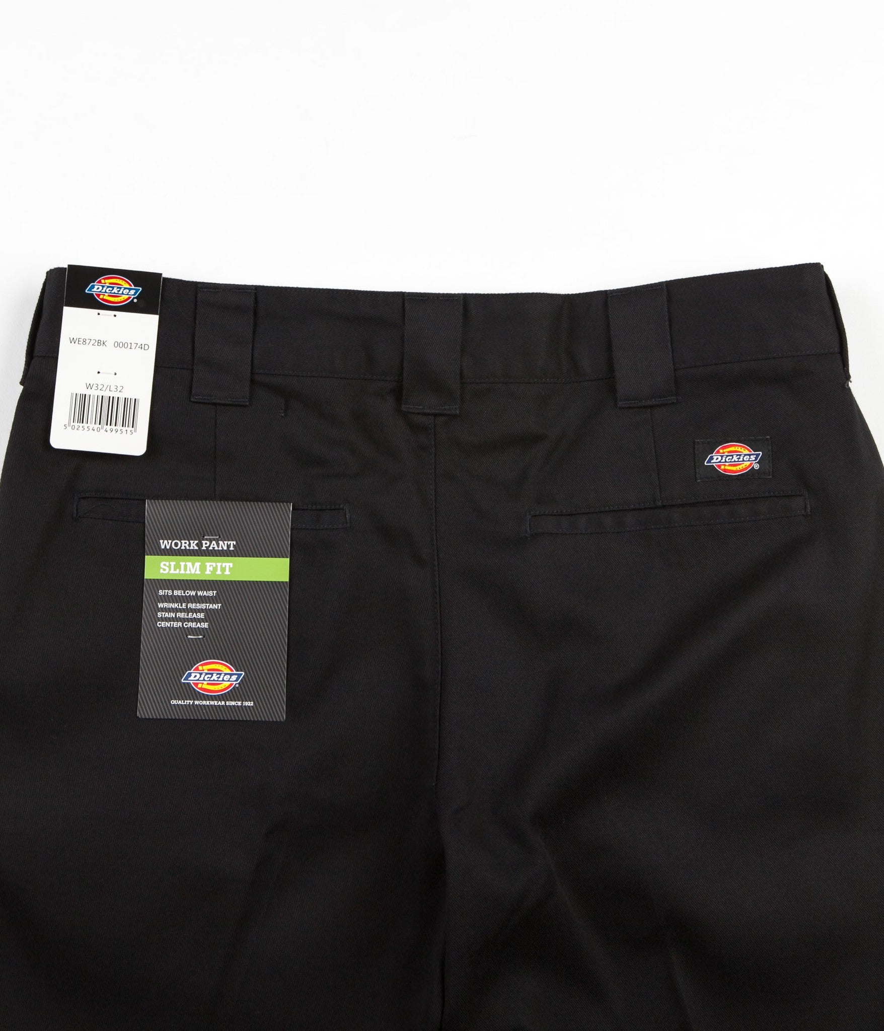 Dickies 872 Slim Work Trousers - Black