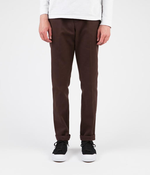 fast color beautiful design look for Dickies 872 Slim Work Trousers - Chocolate Brown