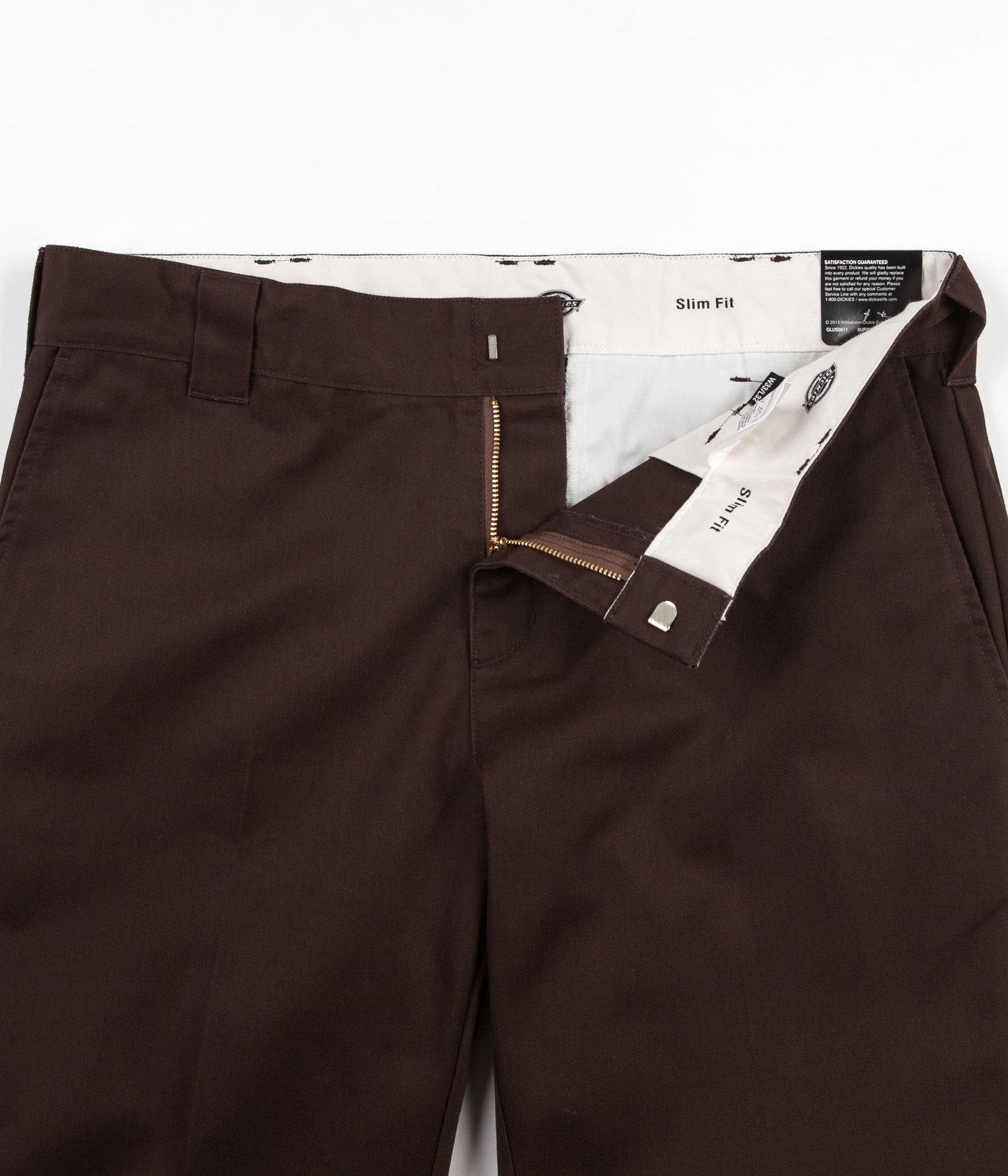 Dickies 872 Slim Work Trousers - Chocolate Brown
