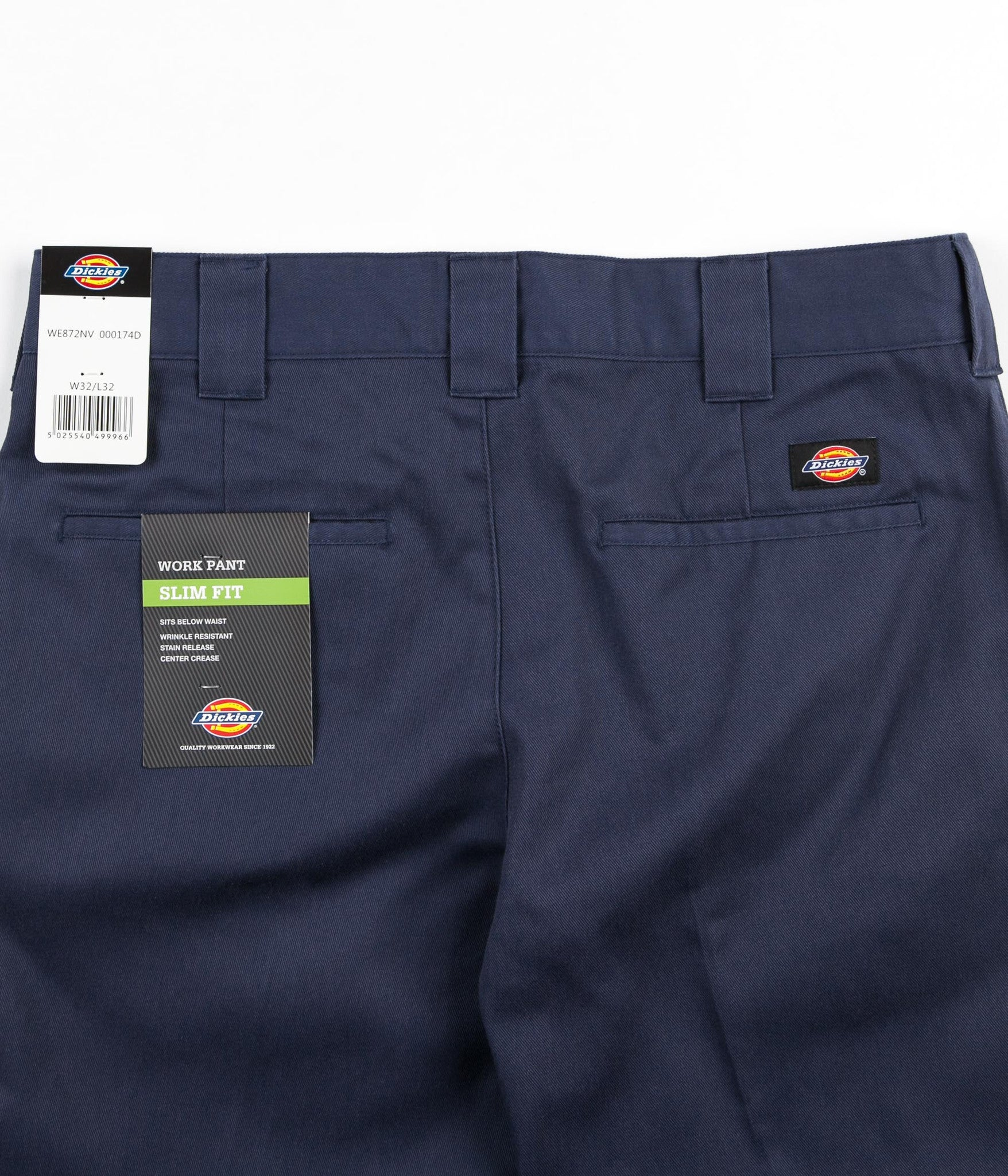 Dickies 872 Slim Work Trousers - Navy Blue