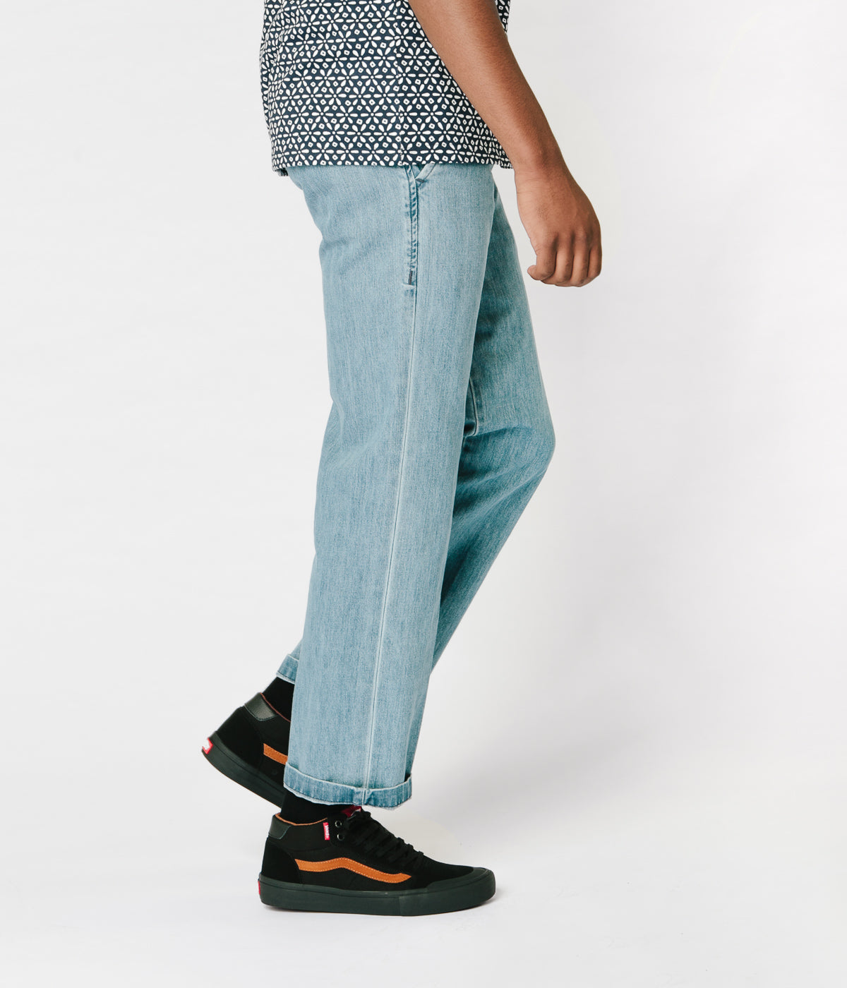 Dickies 873 Denim Work Trousers - Bleach Wash