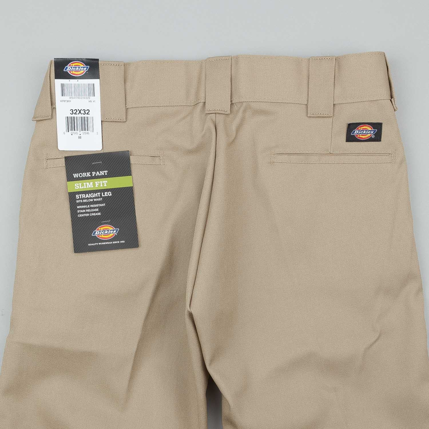 Dickies 873 Slim Straight Work Trousers - Khaki