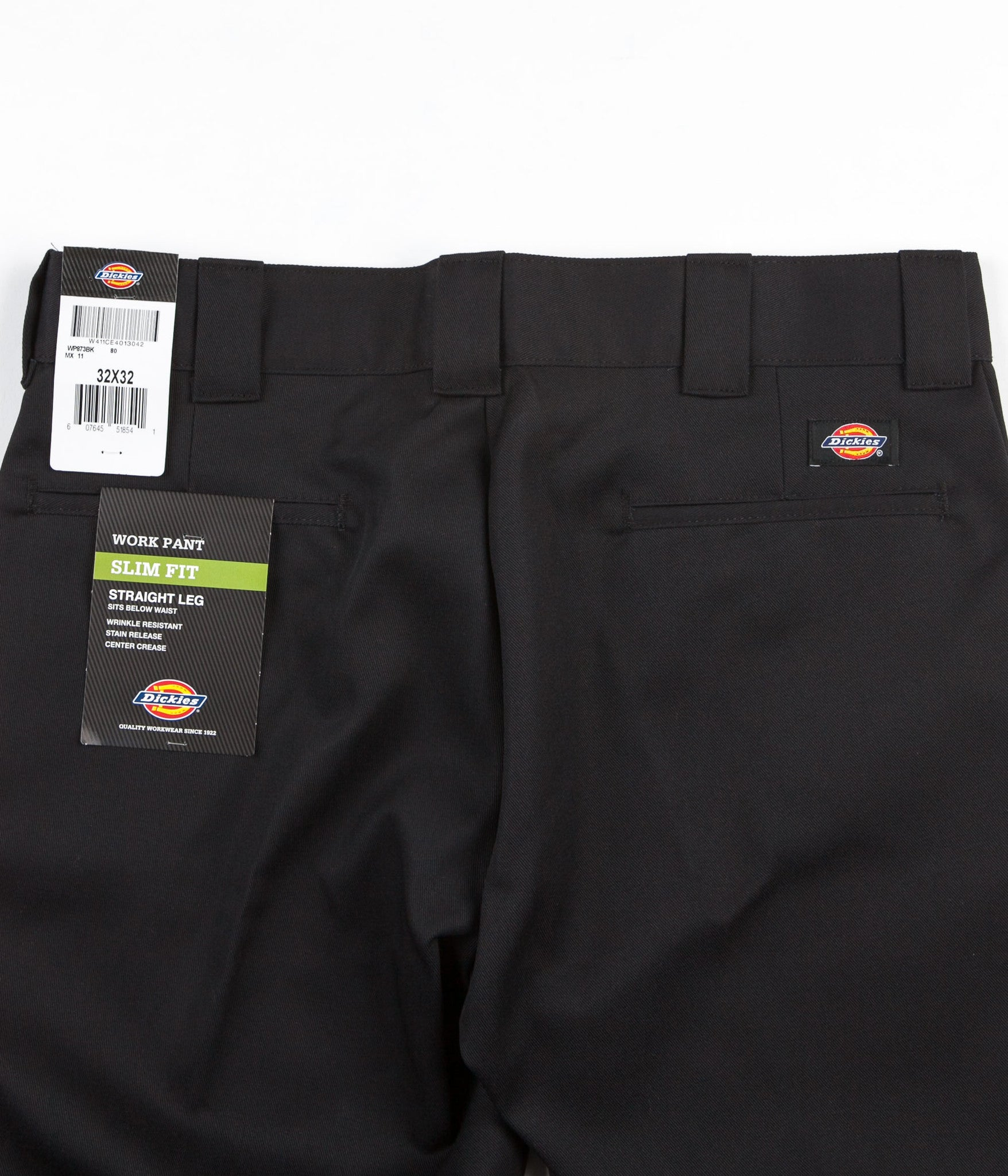 ec42ab21791 ... Dickies 873 Slim Straight Work Trousers - Black ...