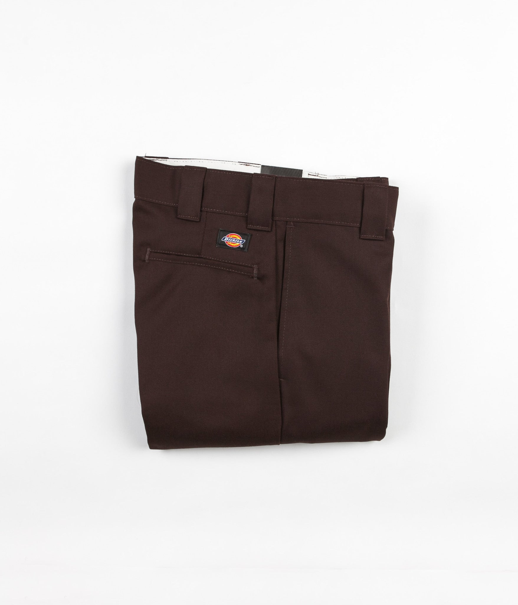 Dickies 873 Slim Straight Work Trousers - Chocolate Brown