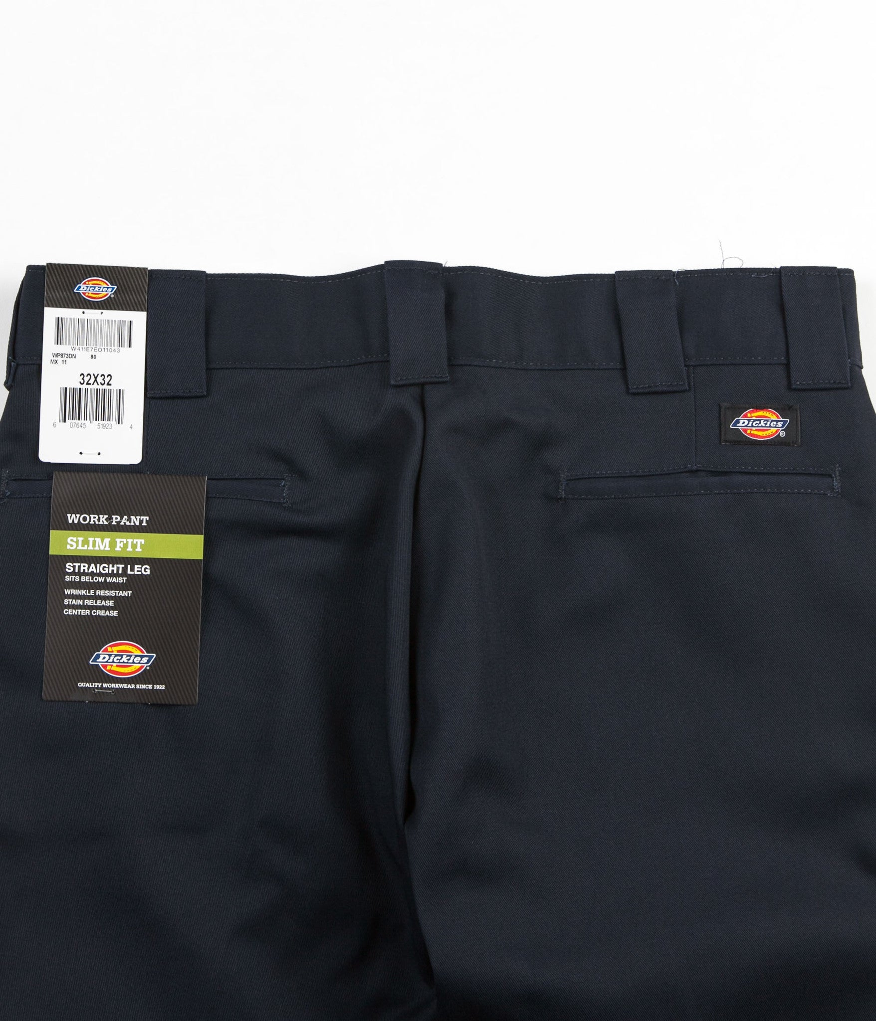 Dickies 873 Slim Straight Work Trousers - Dark Navy