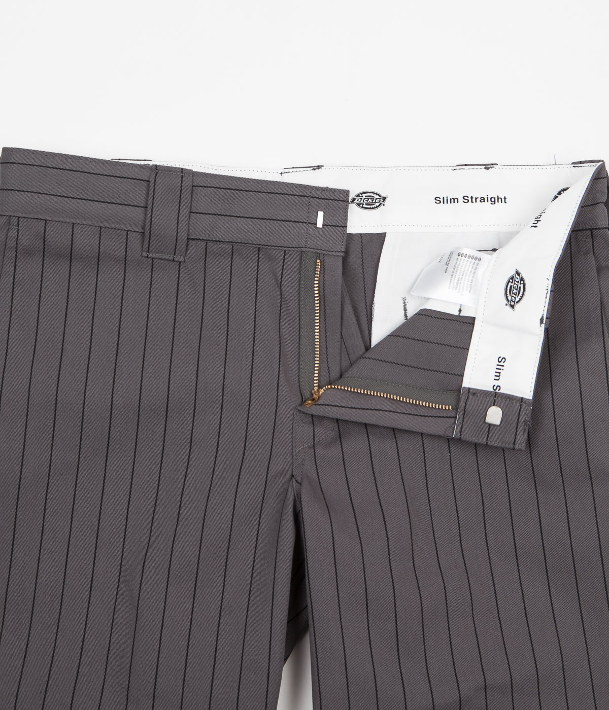 Dickies 873 Stripe Work Trousers - Charcoal Grey
