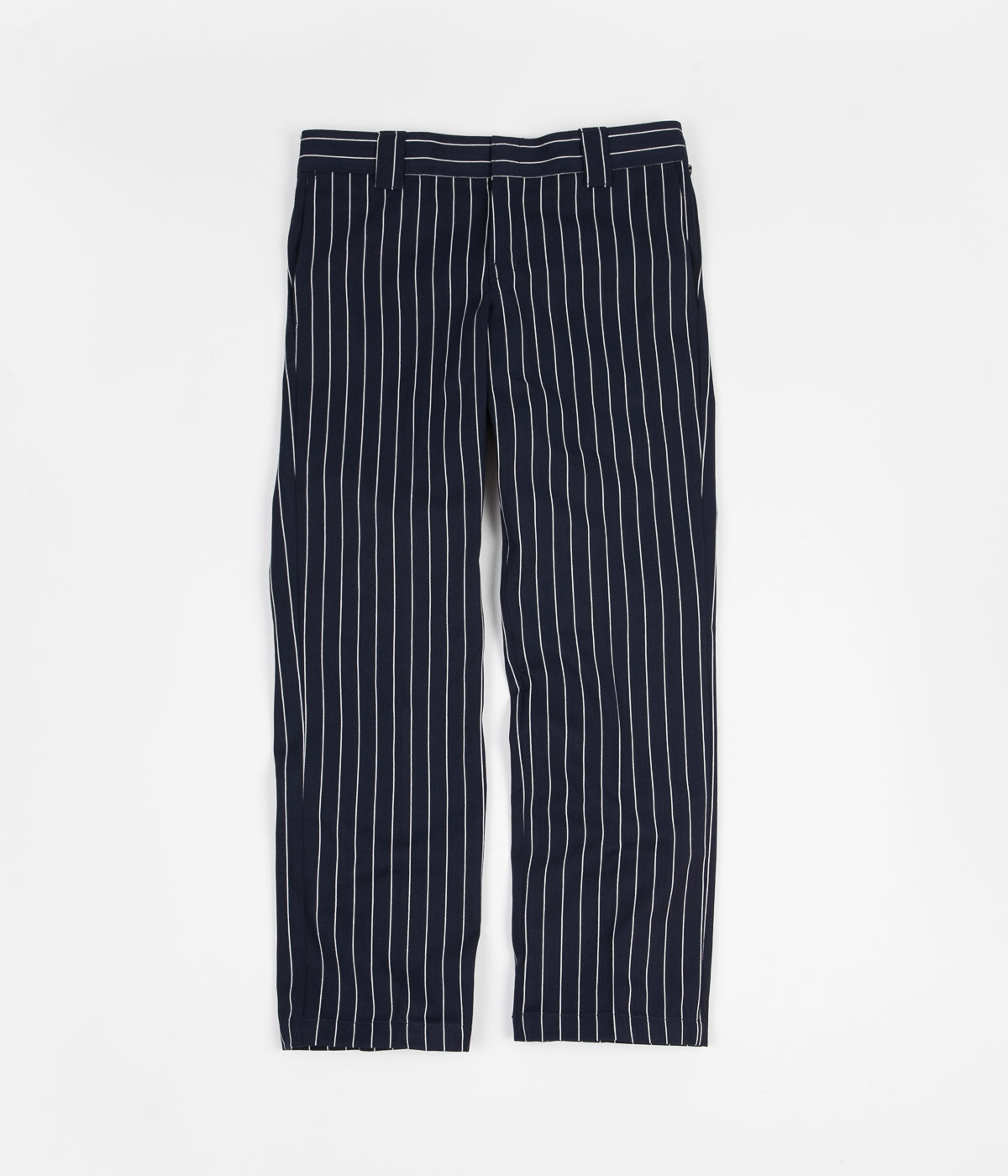 Dickies 873 Stripe Work Trousers - Navy Blue